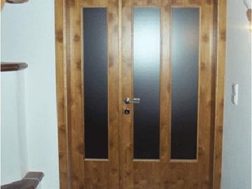 2-flügelige Innentüre furniert aus Akazienholz